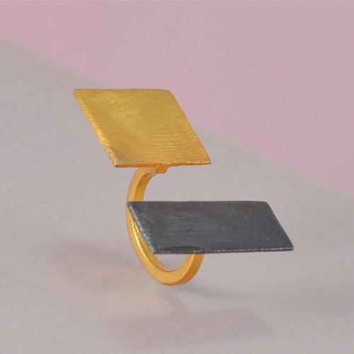 Designer Gold Plated Brass Rings