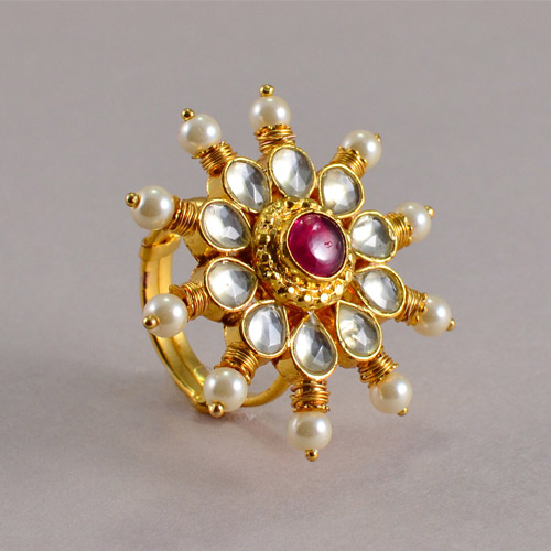 Traditional Kundan Rings