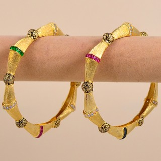 Traditional Antique Gold Plated Bangles