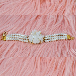 Indo-WesternWhite Pearl Stone Bracelets