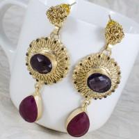 Designer amethyst purple stone