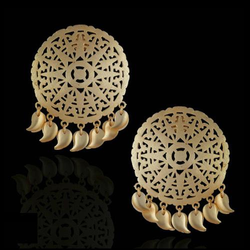 Designer Gypsy Earrings in Brass