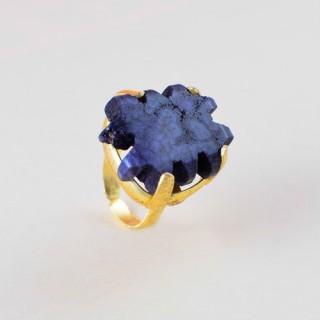 Designer Blue Agate Stone Rings