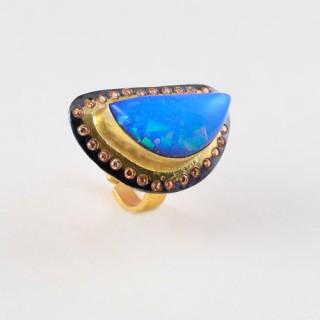 Designer blue chalcedony stone