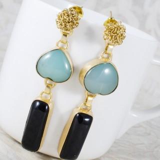 Designer turquoise n black onxy stone