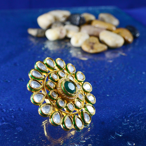 Beautiful Traditional Kundan Rings