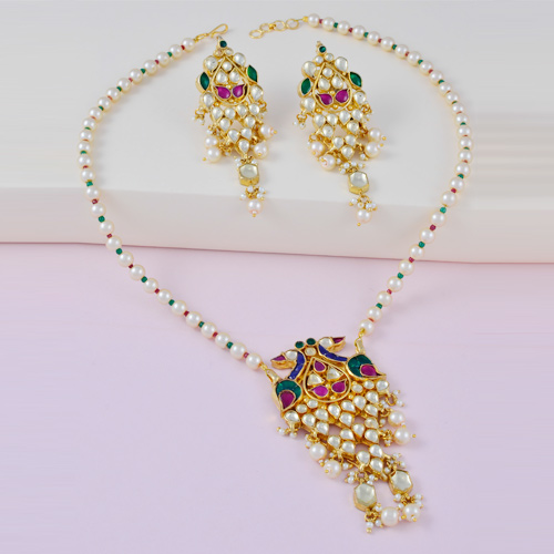 Traditional Kundan Necklaces With Earrings