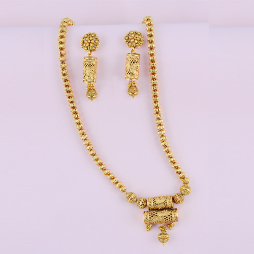 Traditional Brass Necklaces With Earrings