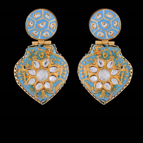 Traditional Sky Color Traditional Earrings
